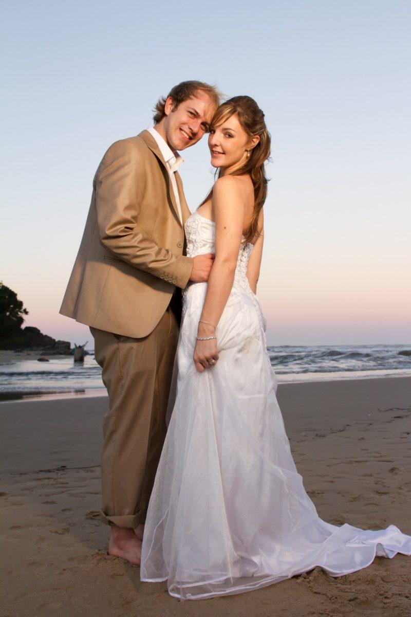 simone and Riaan Wedding Photos on the beach